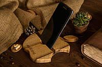Органайзер из натурального дерева Яблоко оригинальный подарок прикольный