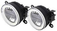 Противотуманные LED ЛЕД  фары + DRL Cree chips + Angel Eyes FOGDRL002, фото 1
