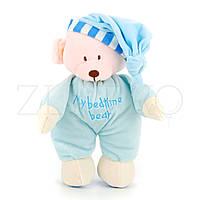 М'яка Іграшка Ведмедик в голубій піжамі - 30 см