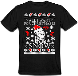 Футболка Game Of Thrones - All I Want For Christmas Is Snow (чёрная)