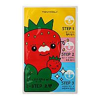 Пластыри для очищения пор Tony Moly Strawberry Seeds 3-step Nose Pack 1 шт (TM0166)