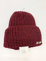 Зимняя женская  шапка крупной вязки, фото 1