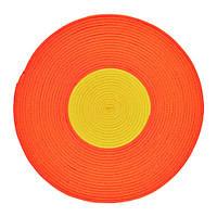 "IKEA ""STICKAT"" Ковер, плетеный, оранжевый, желтый, 75 см"