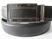 """Ремень мужской брючный автомат черный(кожа китай, 35 мм.) №М17991  """"Remen"""" LM-638"""