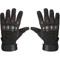 Тактические перчатки с кастетом Oakley. Цвет черный L
