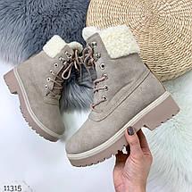 Зимние ботинки из нубука, фото 3