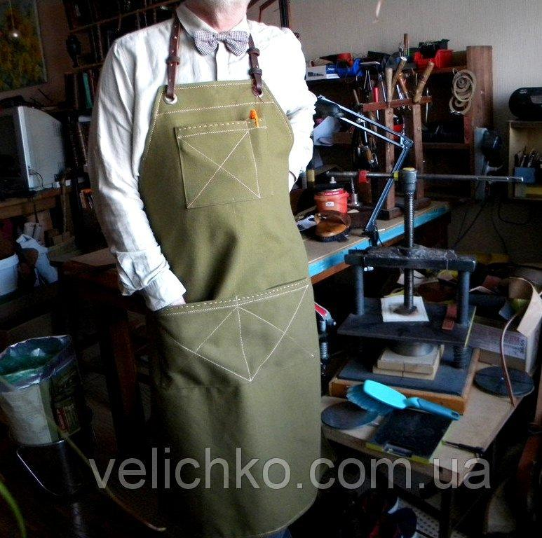 Фартук официанта флориста плотная ткань