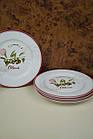 Біла керамічна тарілка, фото 4