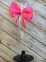 Бокал для шампанского пластик Розовый