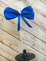 Бокал для шампанского пластик Синий