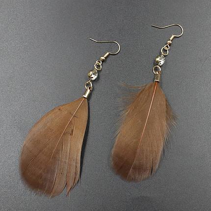 "Серьги перья  ""Stephanie Brown"" L - 9,5 см, фото 2"