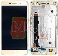 Модульный дисплей Huawei Y6 Pro, Enjoy 5 TIT-U02 Экран + тачскрин золотистый с передней панелью / рамкой