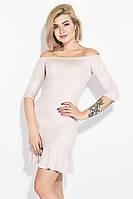 Платье женское 115R276 цвет Пудровый