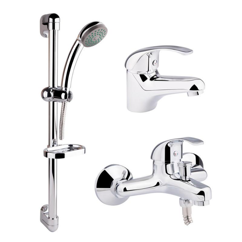 Набор смесителей и душевая стойка 3 в 1 Q-tap Set CRM 40-111