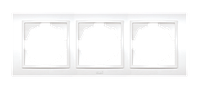 Рамка ABB El-bi Zena тройная универсальная белая, Турция
