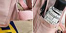Рюкзак для девочки подростка однотонный розовый с водонепроницаемой пропиткой., фото 3
