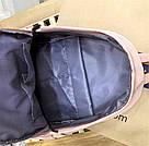Рюкзак для девочки подростка однотонный розовый с водонепроницаемой пропиткой., фото 9