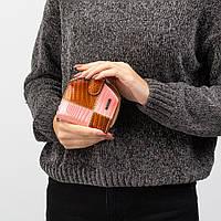 Компактный Женский Кошелек Кожаный Kafa с RFID защитой (AE1869 gold-orange), фото 1