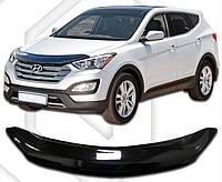 Дефлектор капота  Hyundai Santa Fe с 2012, Мухобойка Hyundai Santa Fe