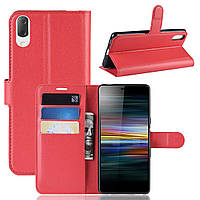 Чехол-книжка Litchie Wallet для Sony Xperia L3 / L4312 Красный