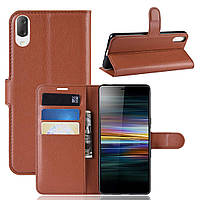 Чехол-книжка Litchie Wallet для Sony Xperia L3 / L4312 Коричневый