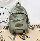 Рюкзак для  подростка однотонный хаки с водонепроницаемой пропиткой., фото 3