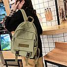 Рюкзак для  подростка однотонный хаки с водонепроницаемой пропиткой., фото 5