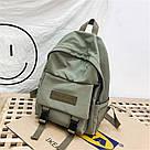 Рюкзак для  подростка однотонный хаки с водонепроницаемой пропиткой., фото 2