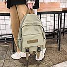 Рюкзак для  подростка однотонный хаки с водонепроницаемой пропиткой., фото 6