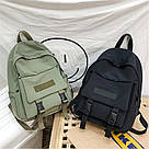 Рюкзак для  подростка однотонный хаки с водонепроницаемой пропиткой., фото 4