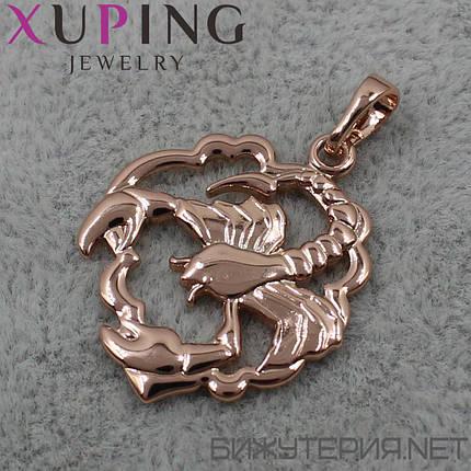Знак Зодиака Скорпион Xuping медицинское золото 18K Gold - 1021909852, фото 2