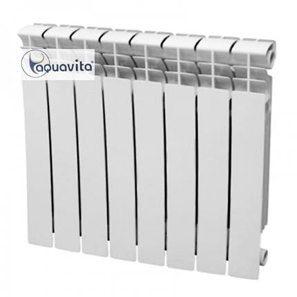 Радиатор биметалл Santan AQUAVITA 500/80 D6 30 бар 10 секций в сборе, фото 2