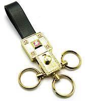 """Брелок для ключей с кожаным ремешком """"Стразы"""" 19387 C"""