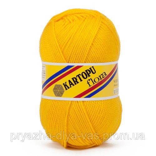 Акриловая пряжа (100% акрил, 100г/230м) Kartopu Flora K320(жёлтый)