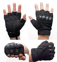 Перчатки беспалые тактические Oakley. Цвет Черный . Цвет Черный  XL