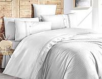 Комплект постельного белья First Choice Meagen Beyaz ranforce deluxe 200-220 см белый