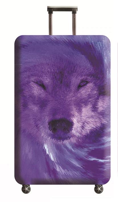 Чехол для чемодана Волк