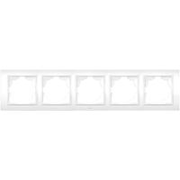 Рамка ABB El-bi Zena пятиместная универсальная белая, Турция