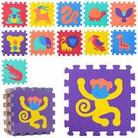 Красочный развивающий коврик-мозаика животные M 2611 для детей