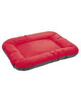 Лежак 102*76*14см для собаки Аскольд 5 красно-серый,  Природа