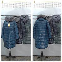 Женская зимняя куртка пуховик  БАТАЛ DELFY 19-82