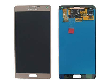 Дисплей для Samsung N910H Galaxy Note 4 с тачскриноми золотистый, Bronze Gold, Оригинал Amoled