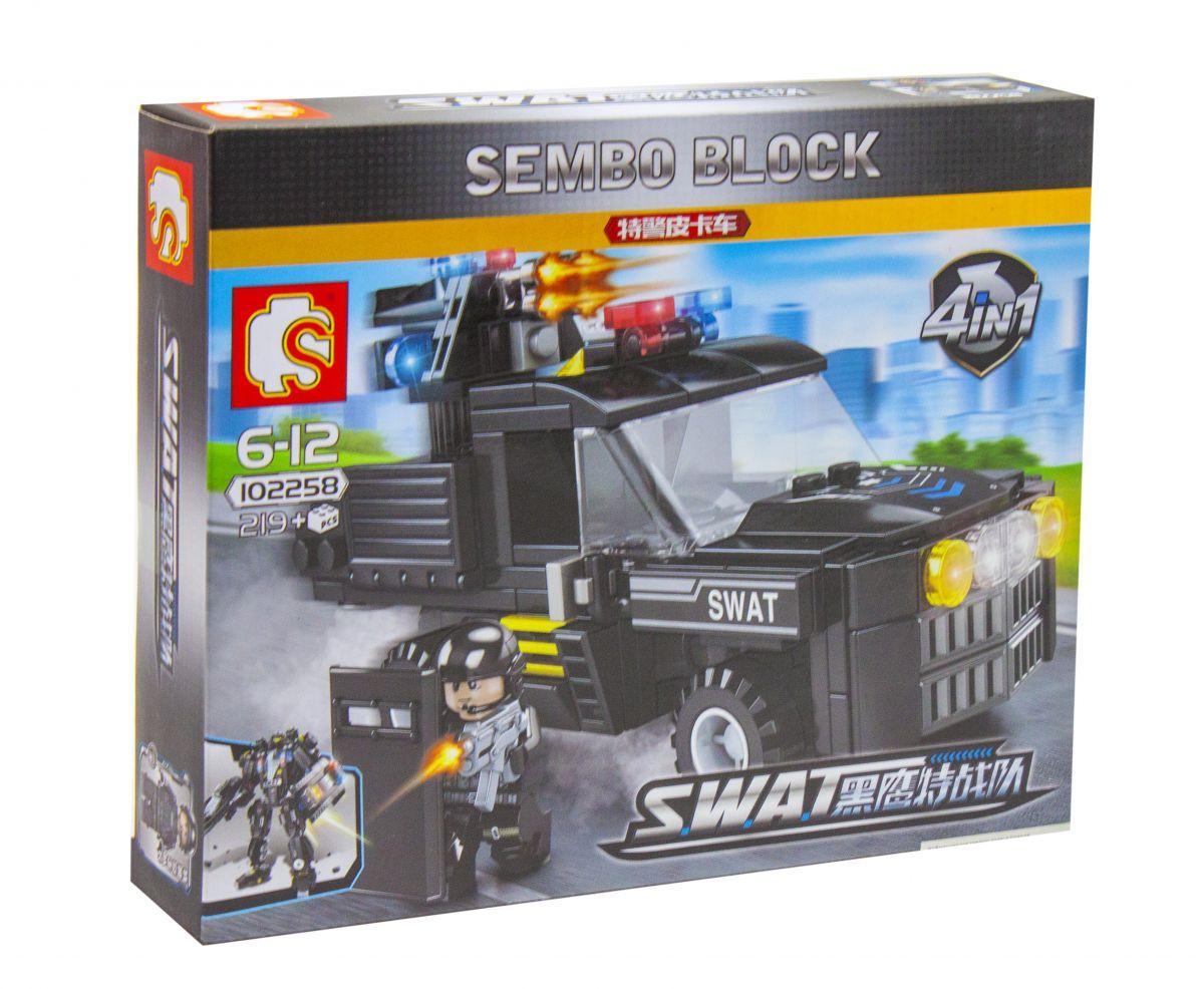 Конструктор Sembo Block: полицейский джип  219 деталей