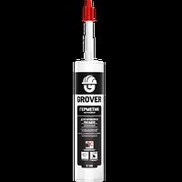Герметик каучуковый для кровли и фасадов прозрачный GROVER R100, 300мл