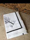 Скатерть белая с вышивкой для обеденного стола, фото 2