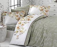 Комплект постельного белья First Choice Diana ranforce deluxe 200-220 см оливковый