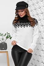 Женский свитер с узорами под горло (169 mrs), фото 2