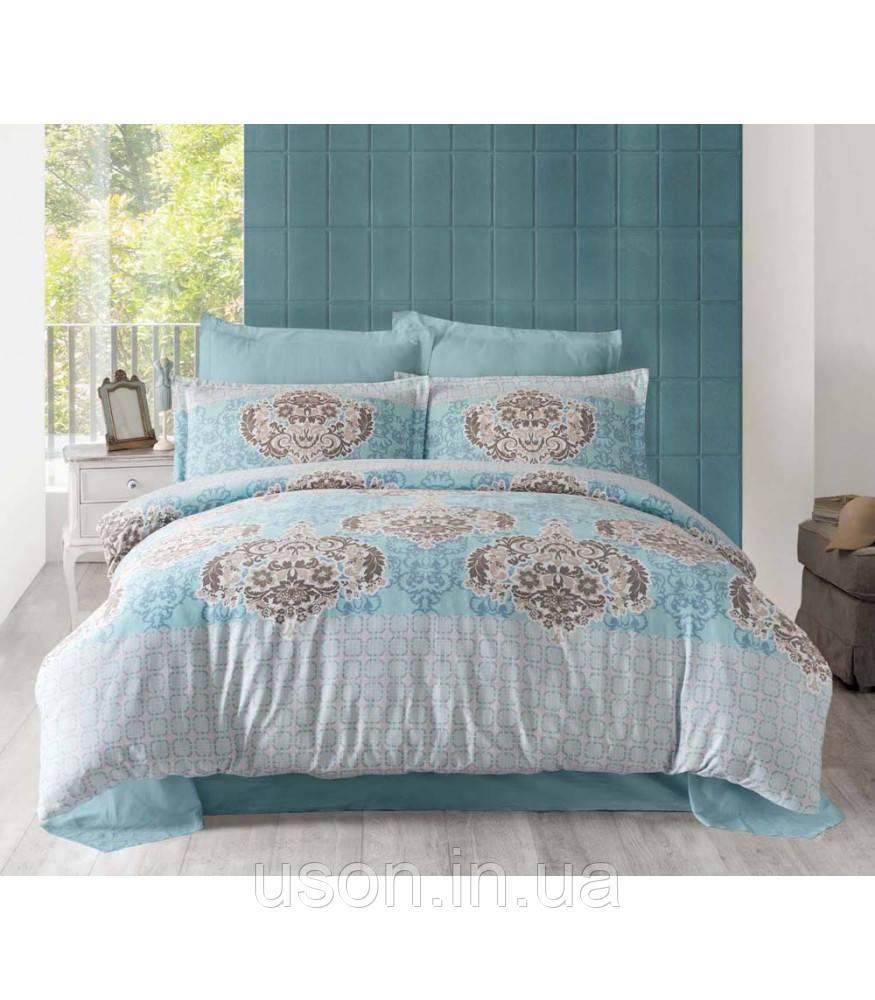 Комплект постельного белья сатин  Altinbasak  Sayka Mavi