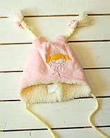 Зимняя шапочка     для девочки р  38-40 -42, фото 1