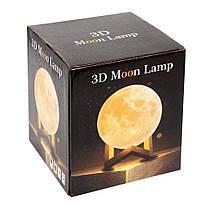 Настольный светильник ночник Луна 3D Moon Lamp, фото 2